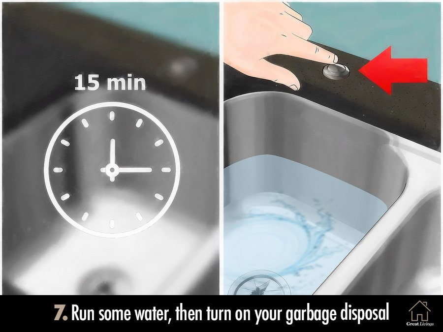 Run some water, turn on the electricity and your garbage disposal
