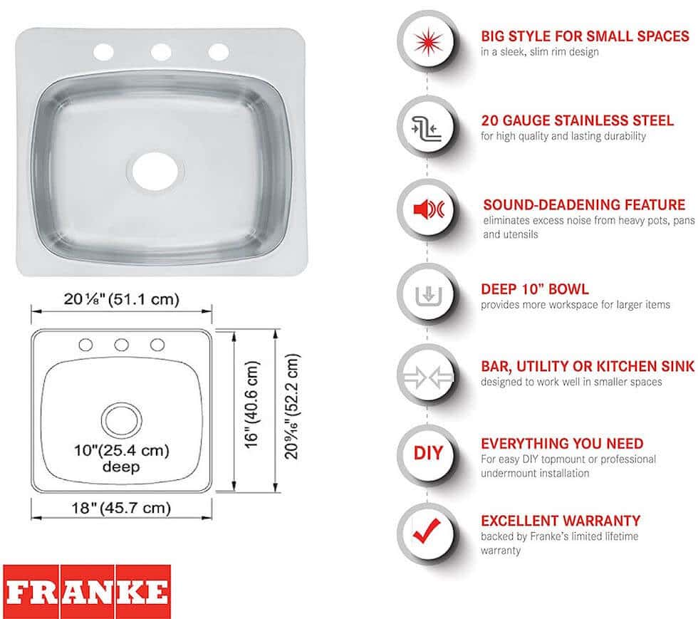 Franke Kitchen Sink SL103BX Features