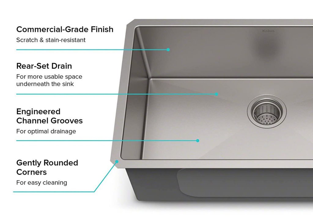 Features of the KHU100-30 Kraus Kitchen Sink