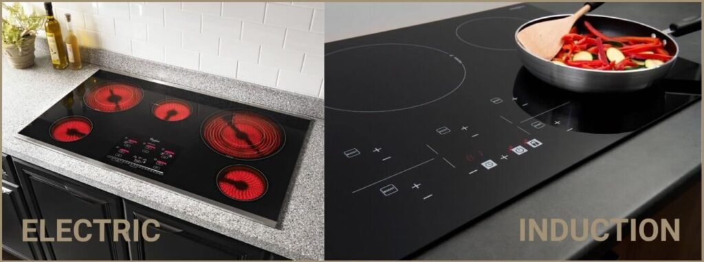Difference between electric and induction cooktops