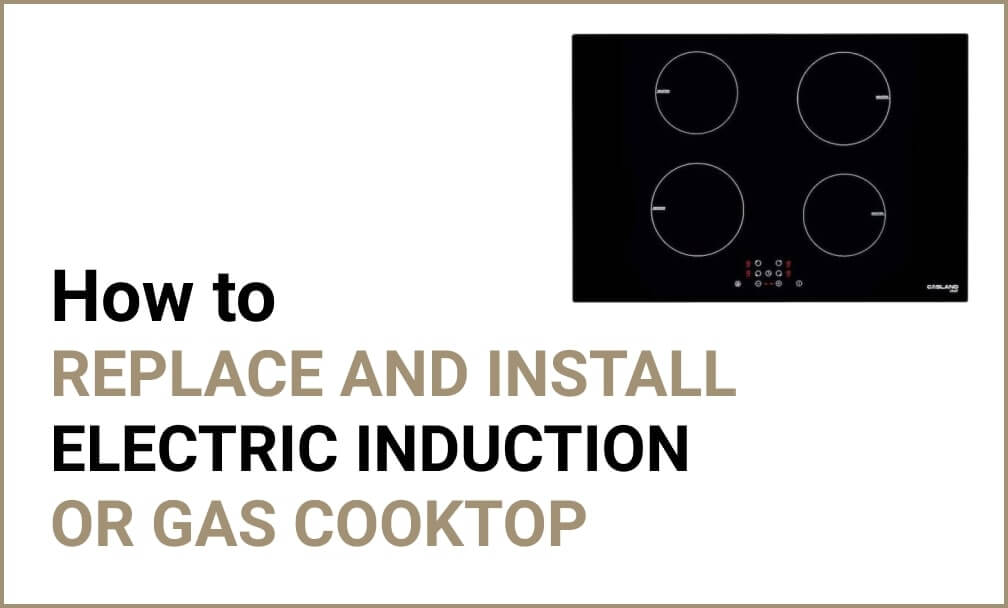 How to install a cooktop