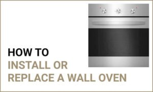 Guide on how to install wall oven