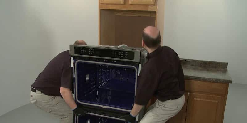 Replace a double wall oven and install