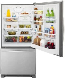 Whirlpool 33 Inch Bottom Freezer Refrigerator