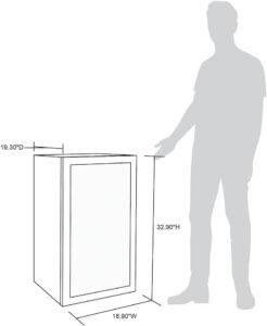 beverage fridge dimensions